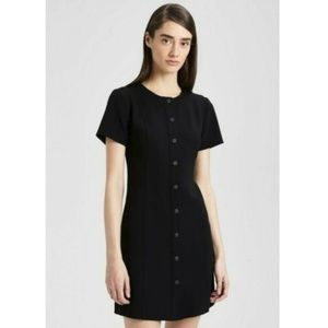 NWOT Theory Black Admiral Snap Front Dress S